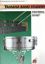 YAMAHA Band Method COMBINED PERCUSSION Snare Drum XYLOPHONE etc Sheet Music Book