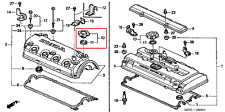 Oil Filler Cap Oil Filler Cap Honda Accord Civic CRX CR-V S2000 Logo 15610p2a000