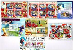 Sport, Football x 7 Souvenir Miniature Sheets CTO Used