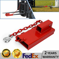 Clamp On Forklift Hitch Receiver Pallet Fork Trailer Towing Adapter 2 Insert