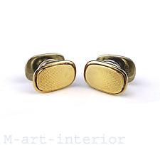 Argent Boutons de manchette Gold plated silver Cufflinks Franz scheuerle vintage