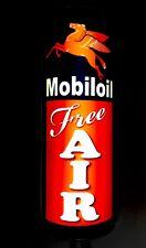 LED 3D CURVED MOBIL OIL Gasoline SIGN FREE AIR GARAGE sign GAS Oil sign