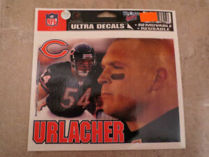 NFL Chicago Bears #54 Brian Urlacher Decal, Removable, Reusable, 2 Decals (122)