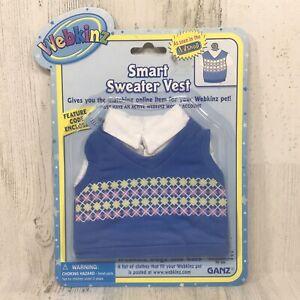 Ganz Webkinz Smart Sweater Vest - Fits most Webkinz Dogs & Cats - NEW