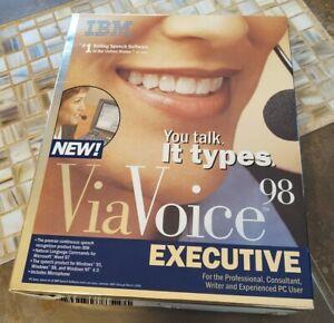 ViaVoice 98- Executive Dictation Software (PC, 1998)