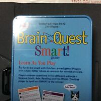 Brain Quest Smart! Card Game by University Games for ages 6 to 12 In Sealed Tin