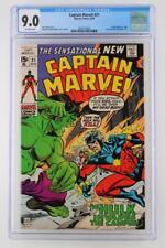 Captain Marvel #21 -NEAR MINT- CGC 9.0 VF/NM - Marvel 1970 - Cap Marvel Vs Hulk!