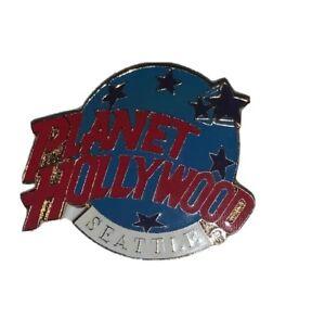 "Planet Hollywood Seattle Washington Gold Tone Enamel Collectible Pin 1.5"""