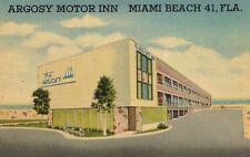 Miami Beach,Florida,Argosy Motor Inn,Art Deco Architecture,Linen,c.1940s