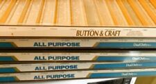 Vintage Coats & Clark 4 Button & Craft 1 Plastic Sectioned Thread Display Trays
