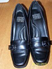 "MOOTSIES TOOTSIES BRAND black synthetic material sz 7M 2.5"" heels pumps"