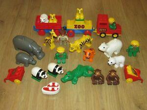 Lego Duplo Zoo / Wild Life Animals, People / Figure's , Train & More Bundle
