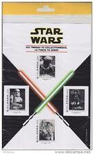 Lot de 4 Timbres de la Saga Star Wars sous blister, non ouvert.