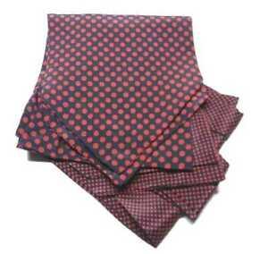 ASCOT UOMO BLU a pois rossi cashe col di seta raffinato VARI pallini e puntini