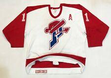 Vintage CCM Maska Saint Laurent Patriotes CHARTRAND #11 Hockey Jersey 50 Sz