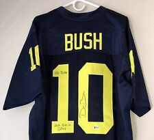 Devin Bush II Signed Michigan Wolverines Autograph Football Auto Jersey BAS COA