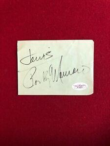 "Rocky Marciano, ""Autograph"" (JSA Letter), Album Page (Scarce / Vintage)"