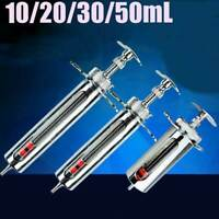 10ml/20ml/50ml Glassware Adjusted Lab Sampler Stainless steel Supplier Syringe