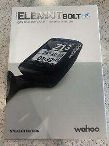 Wahoo ELEMNT BOLT GPS Bike Computer - Stealth Edition