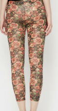 Floral Leggings Size 6 New With Tags Sheer Animal Print Overlay Cottagecore