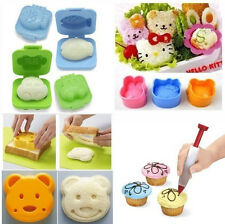 7 Pcs Japanese Mixed Cute Cake Sushi Rice Egg Mold Cutter Decorating Shaper Set