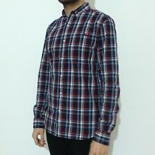 Superdry Washbasket Long Sleeve Shirt S Small Ecosse Navy Check