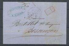 1870 Lettre CAD T17 MAICHE DOUBS(24) + PP rouge manque de timbres X3650