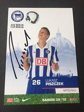 LUKASZ PISCZEK  Hertha BSC 2009/10 signed original Autogrammkarte 10x15