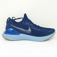 Nike Mens Epic React Flyknit 2 BQ8928-400 Blue Running Shoes Lace Up Size 13