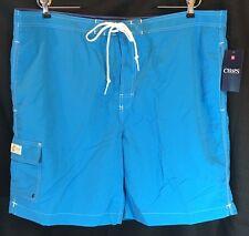 Chaps Mens Swim Board Shorts bright blue - lined - mens size XXL - NWT