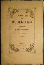 CLASSICI/PRATO. SIMINTENDI, I PRIMI V LIBRI DELLE METAMORFOSI D'OVIDIO