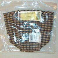 Longaberger Khaki Check PEN PAL Basket Liner ~ Brand New in Bag!