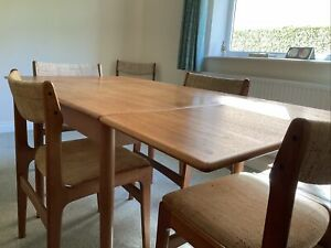 G Plan Extending Dining Table And 6 Chairs