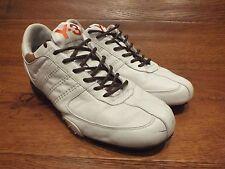 Y-3 Yohji Yamamato Blanco Cuero Casuales Zapatillas Size UK 8 EU 42 nos 8.5