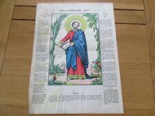 IMAGE D' EPINAL PELLERIN 1900 SAINT BARTHELEMY APOTRE RELIGIEUX
