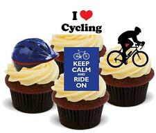 NOVELTY CYCLING MIX C 12 STAND UP Edible Cake Toppers Birthday Tour De France