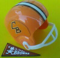 1967 NFL Cleveland BROWNS Vintage mini gumball football helmet Tudor PENNANT AFL