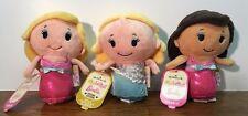Hallmark Itty-Bitty'S Barbie Plush Disney Princesses 4 inch  3 doll  FREE SHIP