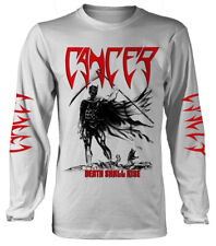 Cancer 'Death Shall Rise' (White) LS Shirt - NEW & OFFICIAL!