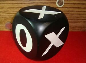 """Vintage Large X & O's decoration Cube Black-White Cube 3.75 x 3.75"""" in."""