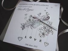Handmade Personalised Wedding Card Daughter Son in law Sister Son Brother Niece