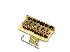 Fender Strat Style string thru Bridge Ponte STEG supporto stringhe 10,8 mm Oro