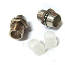 100 x 5mm clip Chrome Metal Bezel LED Holders Mounts
