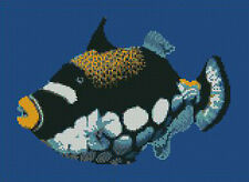 "Marine Clown Trigger Fish Counted Cross Stitch Kit 11.4"" x 8.3"""