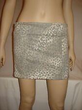 Victoria Secret Designer London Jean Size 2 Leopard Denim Skirt Side Zippers