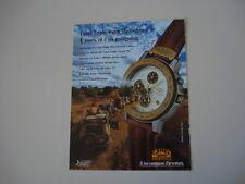 advertising Pubblicità 1992 CAMEL TROPHY WATCH