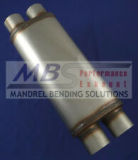 "muffler FULL BOAR Max Flow SS Dual 3"" IN/ Dual OUT MF2469"