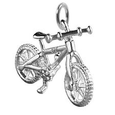 Mountain Bike Charm Sterling Silver 925 Bicycle Moves CMTPBC01