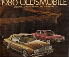Oldsmobile Omega Starfire Cutlass 1980 USA Market Sales Brochure