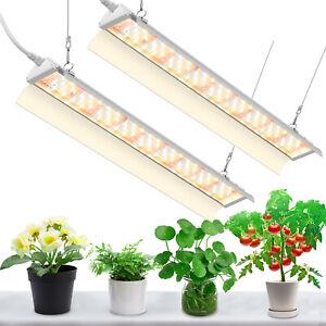2 PACK LED Grow Light 4ft 70W Super Bright Full Spectrum Sunlight Plant Bulbs